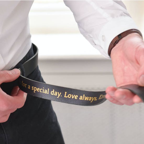 Personalised Secret Message Wedding Belt