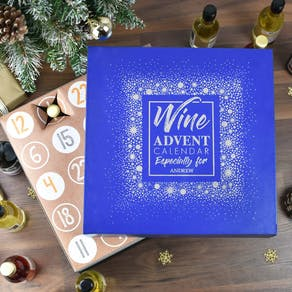 Personalised Wine Advent Calendar Box