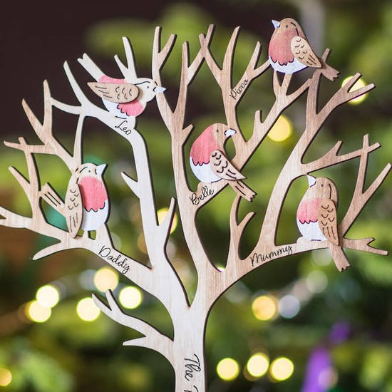 Personalised Wooden Family Tree