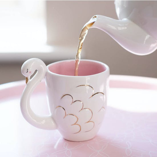 Porcelain Swan Shaped Mug