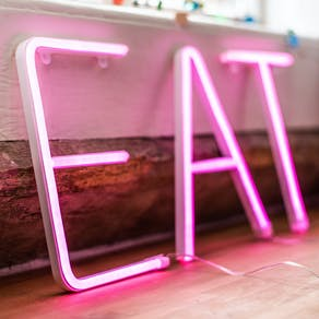 Pink or White Neon Letter Light