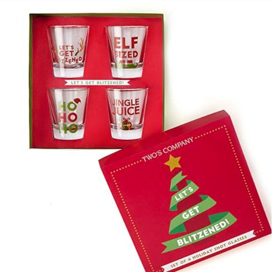 Set Of Christmas Shot Glasses