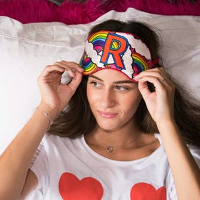 Silk Letter Eye Mask
