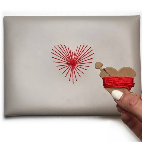 Stitch Heart Strings Envelope