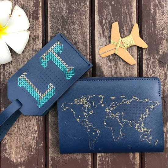Stitch Your Passport And Luggage Tag Set
