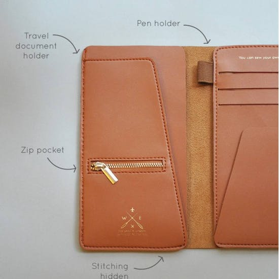 Stitch It Yourself Travel Wallet