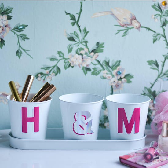 Personalised Letter Pots