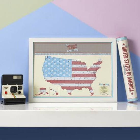 Scratch Map® USA Travel Size Poster