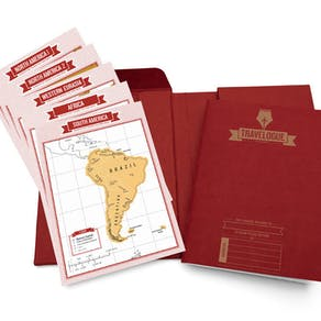 Scratch Map® Travel Journal Red