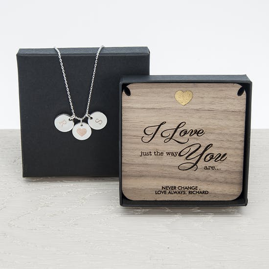 Personalised 'Just The Way You Are' Necklace