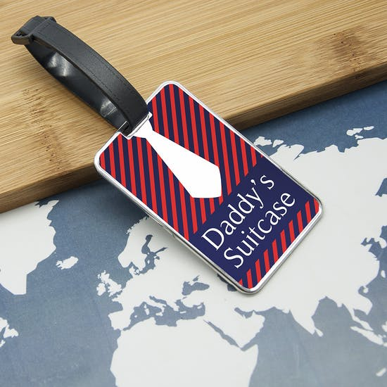 Gentlemen's Shirt And Tie Luggage Tag
