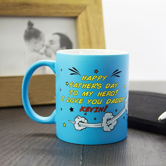 Personalised Superdad! Coloured Mug
