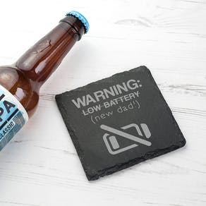 'New Dad' Slate Coaster