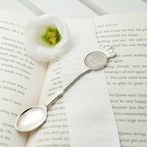 Personalised Lucky Sixpence Teaspoon