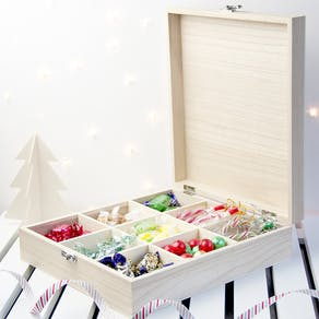 Personalised Filled Festive Sweetie Box