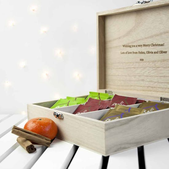 Personalised Christmas Tea Gift Box