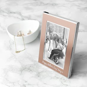 Personalised Rose Gold Metal Photo Frame
