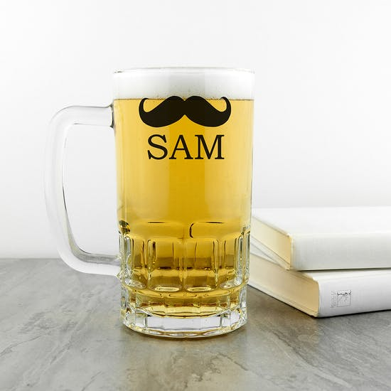 Personalised Moustache Tankard