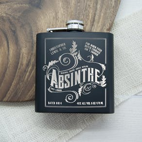 Personalised Absinthe Vintage Style Hip Flask