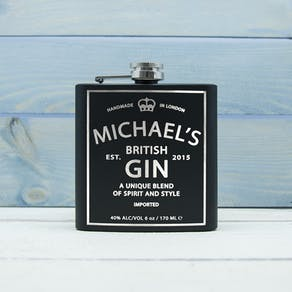 Personalised Gin Vintage Style Hip Flask