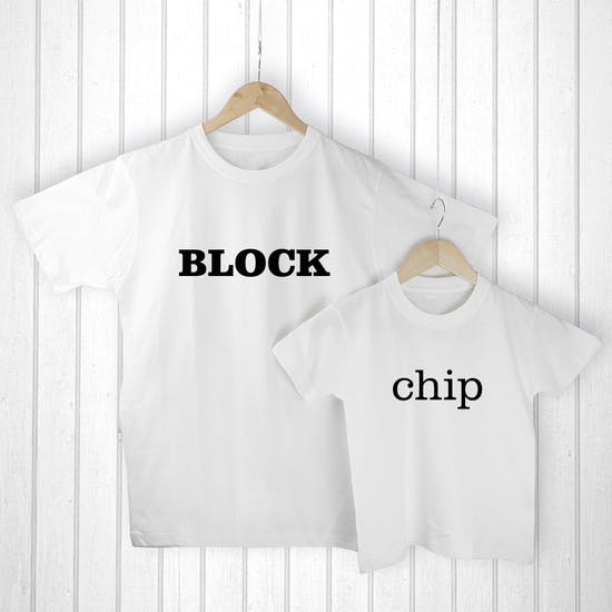 Personalised 'Chip Off The Old Block' T Shirts