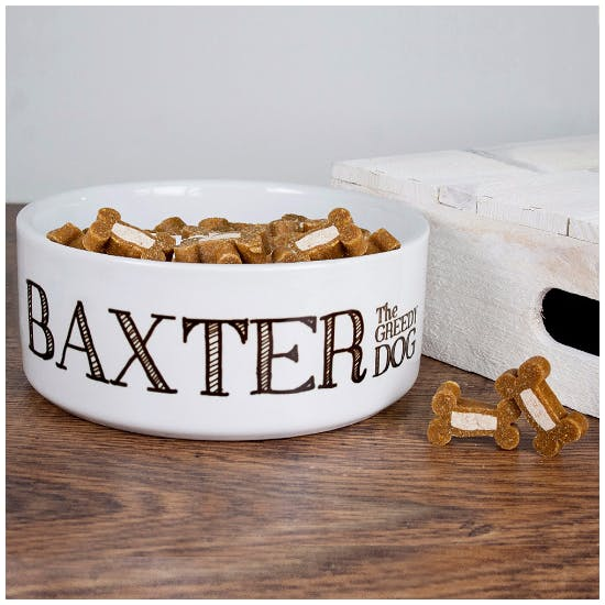 Personalised Ceramic Dog Bowl