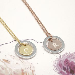 Personalised Monogram Necklace With Keepsake