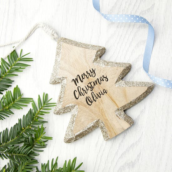 Personalised Sparkling Christmas Tree Decoration