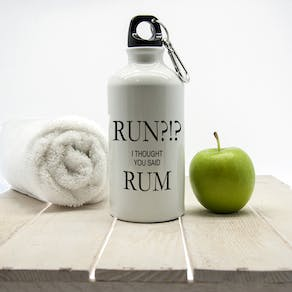 Run!? I Thought You Said Rum Water Bottle