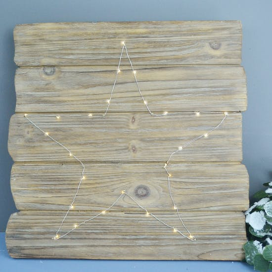 Fairy Light Driftwood Wall Plaque