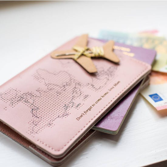 Personalised Leather Stitch Passport