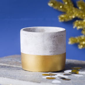 Luxury Gold Dip Cement Planter