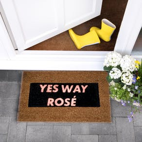 Yes Way Rose Glittery Doormat